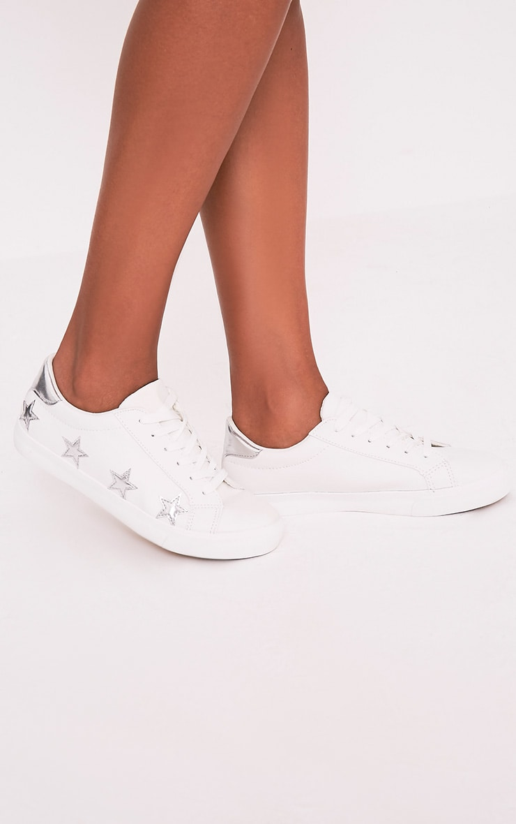 Ami Silver Metallic Star Trainers 1