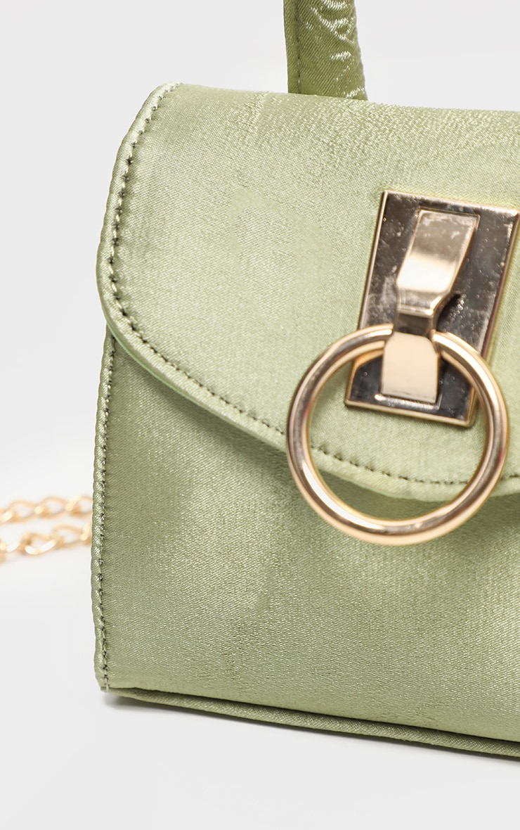 Sage Green Single Handle Chain Belt Bag 4