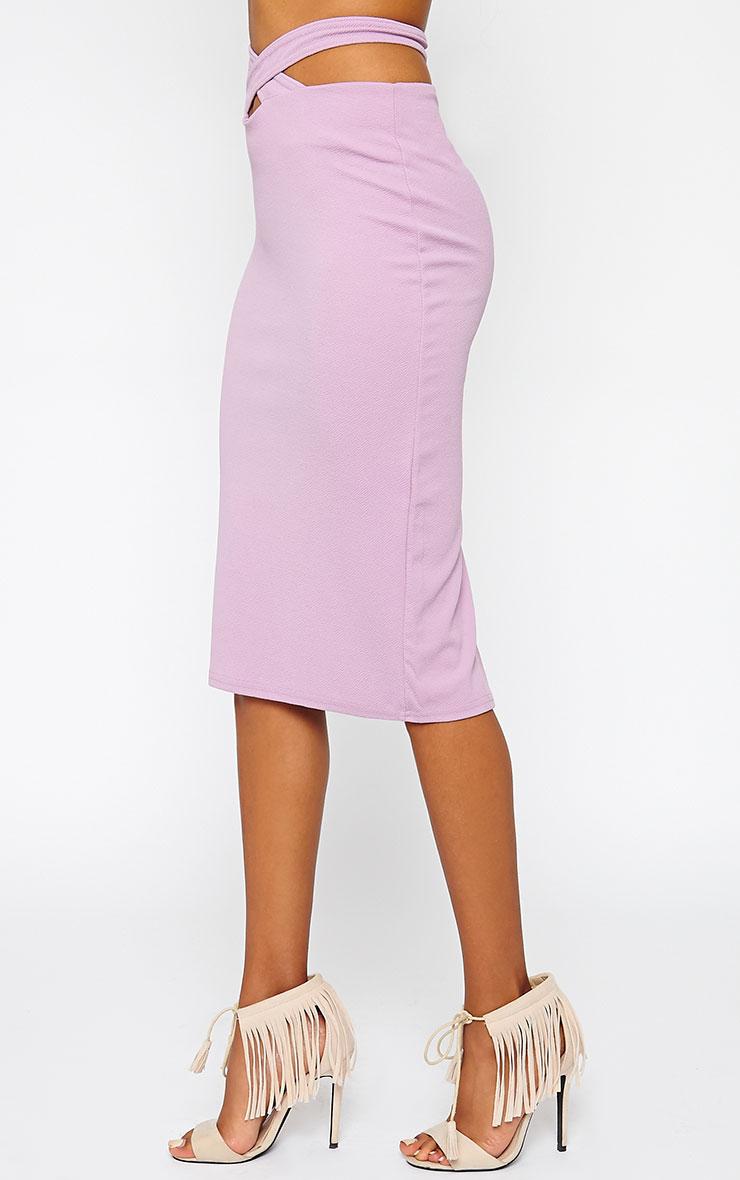 Shanel Mauve Cut Out Midi Skirt 3