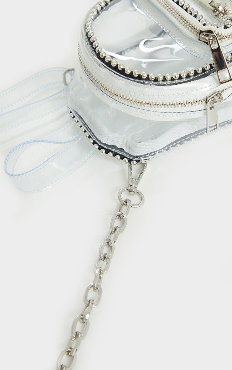 Clear Ball Chain Border Mini Backpack 3