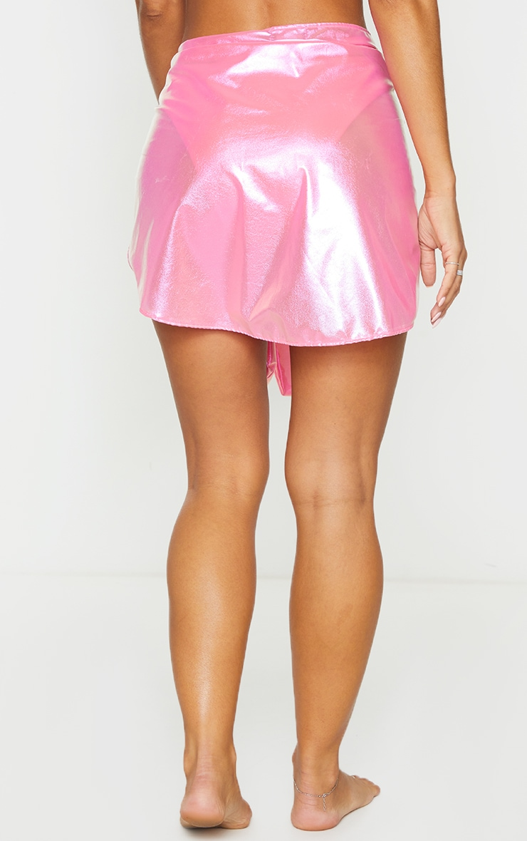 Bright Pink Iridescent Sarong 3