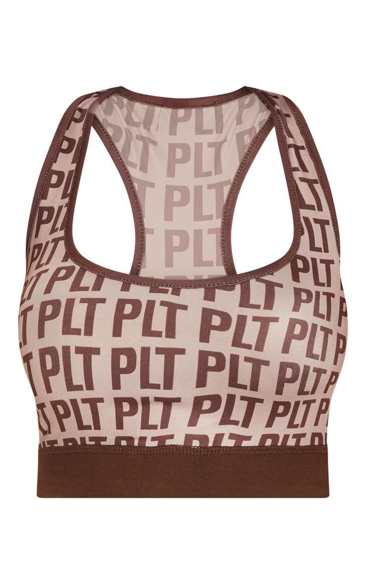 PLT Sport - Crop top gris pierre PrettyLittleThing 3