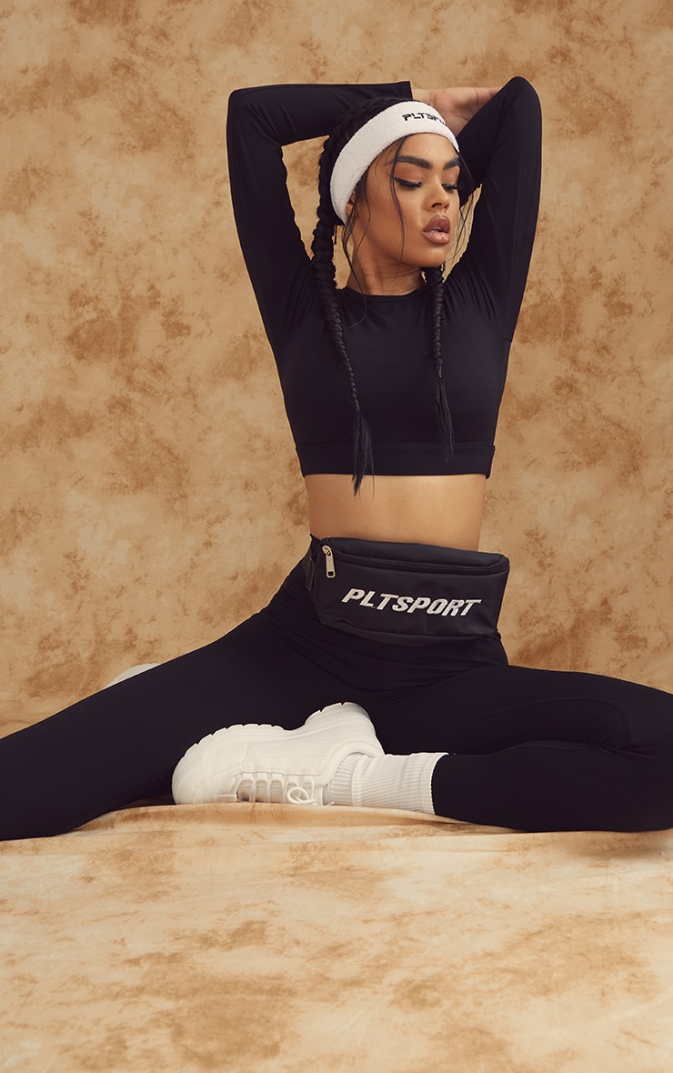 Black Sculpt Luxe Long Sleeve Sports Top 3
