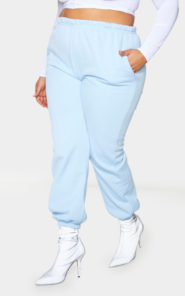 Plus Light Blue Casual Jogger  2