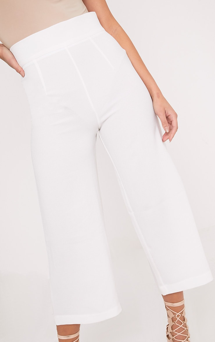 Tazmin White High Waisted Culottes 5