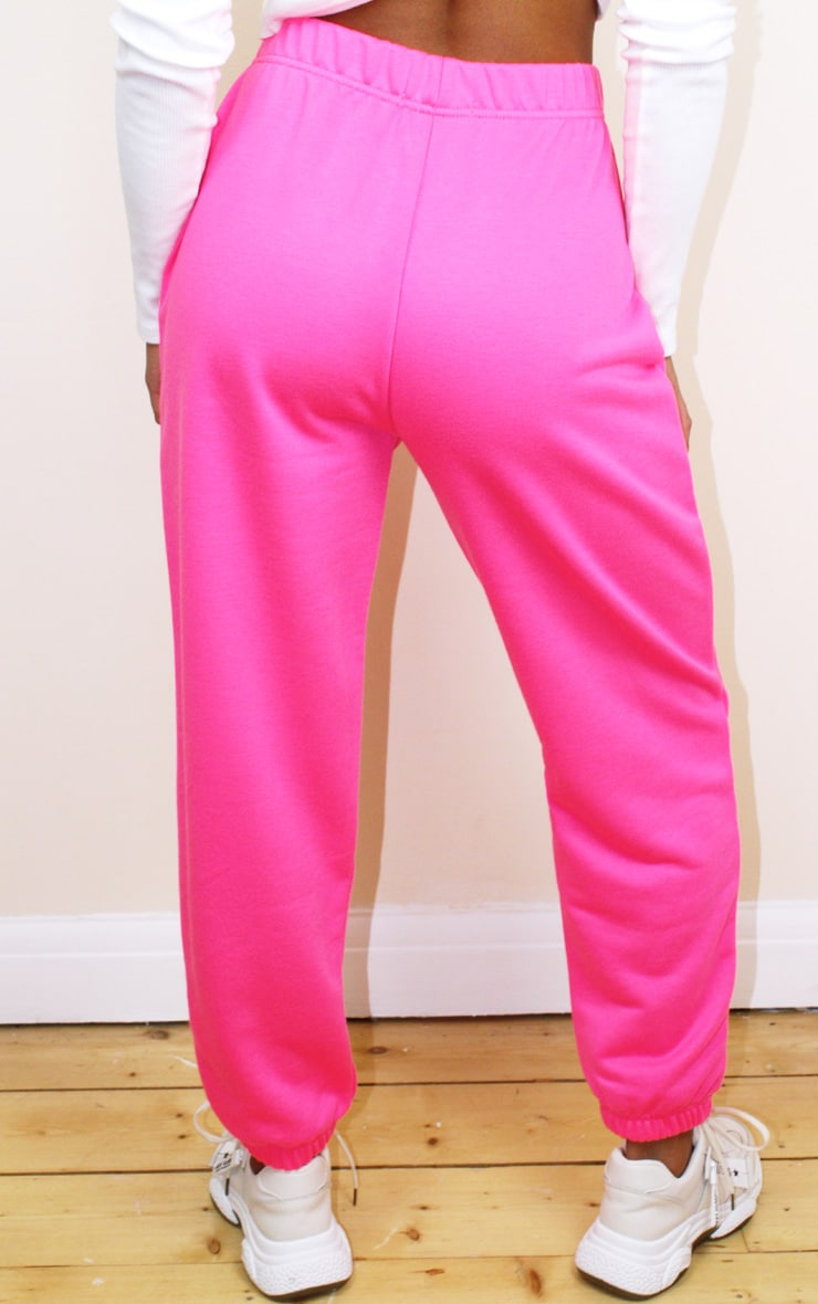 Petite Basic Hot Pink Cuffed Hem Joggers 3