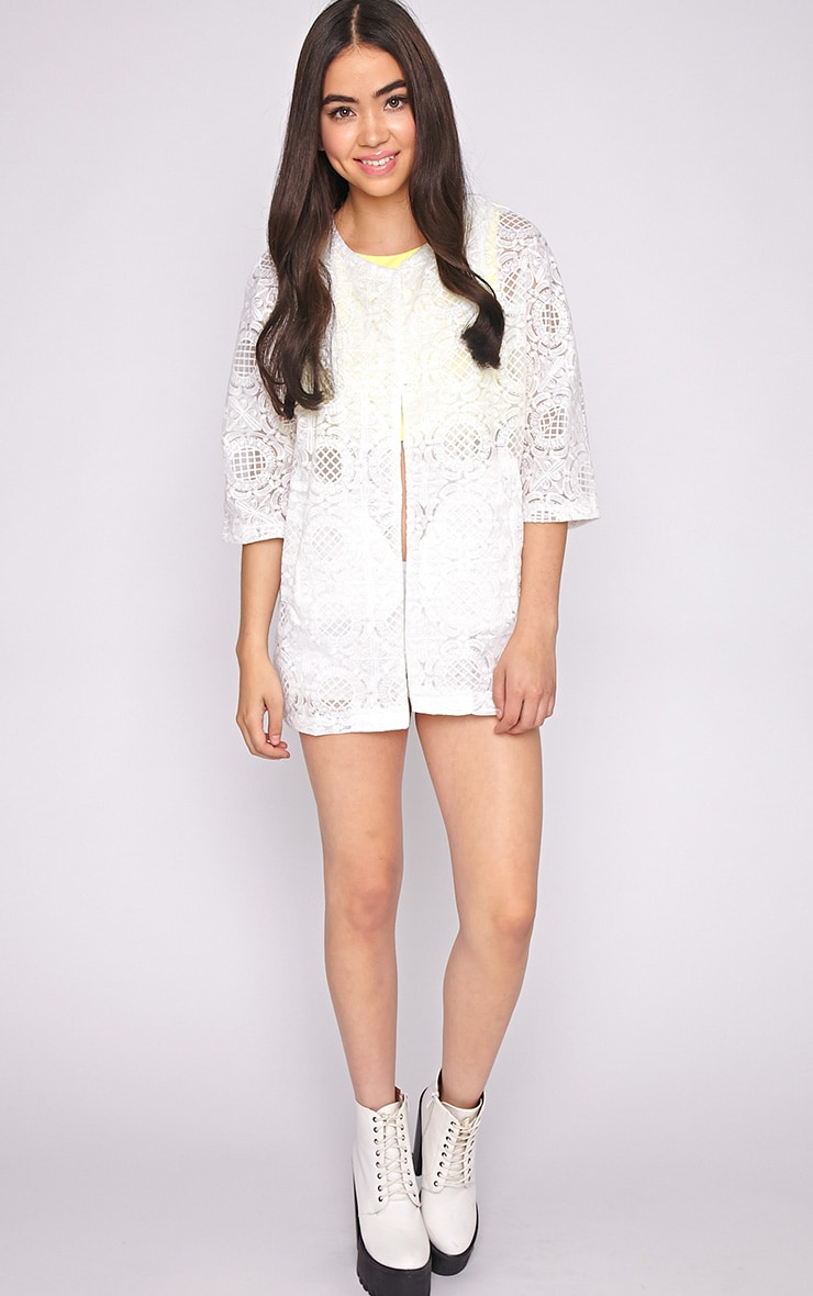Lottie White Embroidered Jacket 3