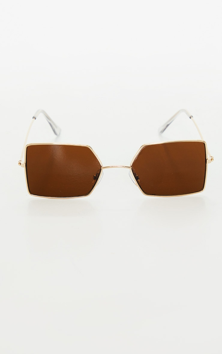 Black Retro Square Sunglasses 2