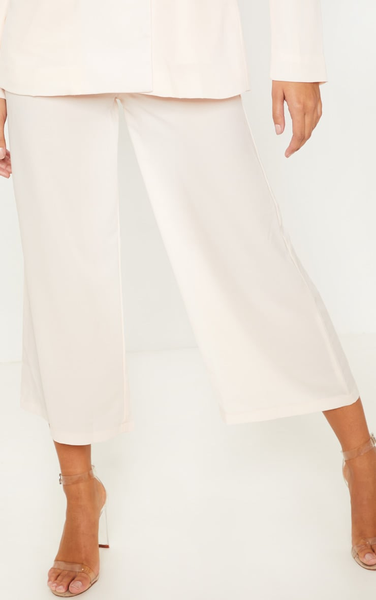 Cream Button Detail Culottes 2