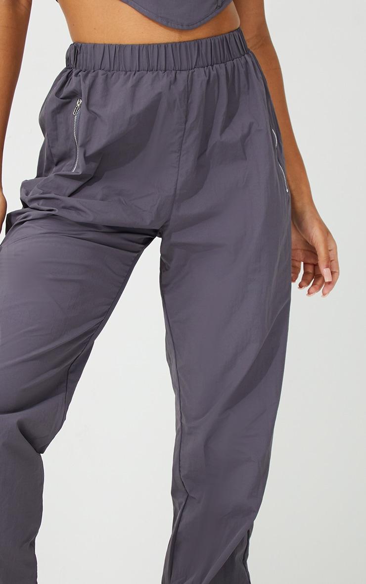 Grey Oversized Joggers 4