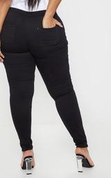 Plus Black High Waisted Skinny Jeans 4