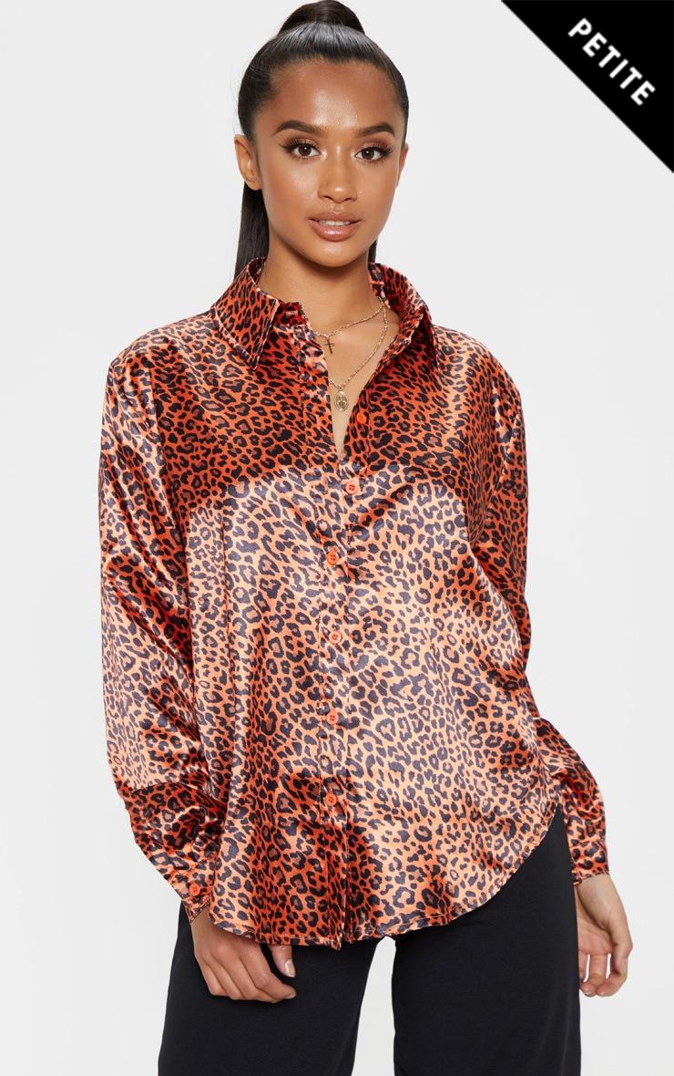 Petite Orange Leopard Print Shirt 3