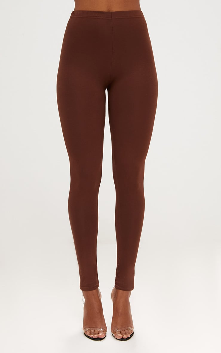 Basic Brown and Burgundy Jersey Leggings 2 Pack 5