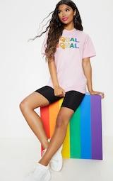 UNISEX Pink EQUAL Oversized T-shirt 5