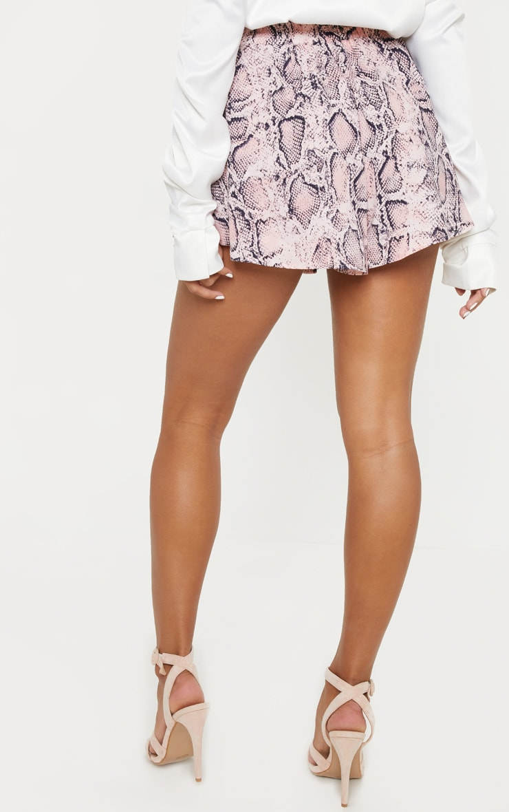 Peach Snake Printed Floaty Short 4