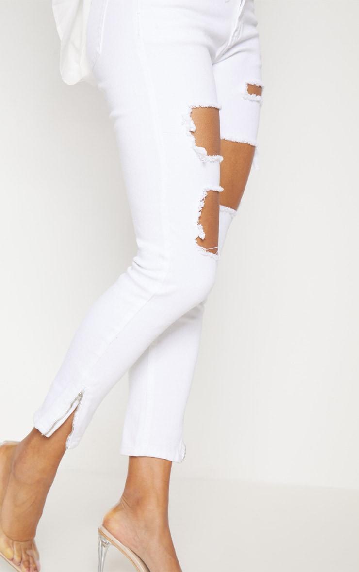 Extreme Rip White 5 Pocket Skinny Jean 5
