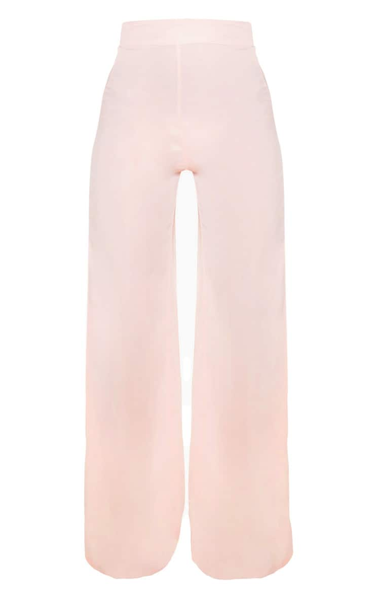 Elnie Baby Pink Wide Leg Suit Trousers 3