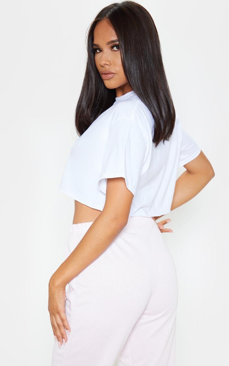 White Angel Slogan Crop T Shirt 2