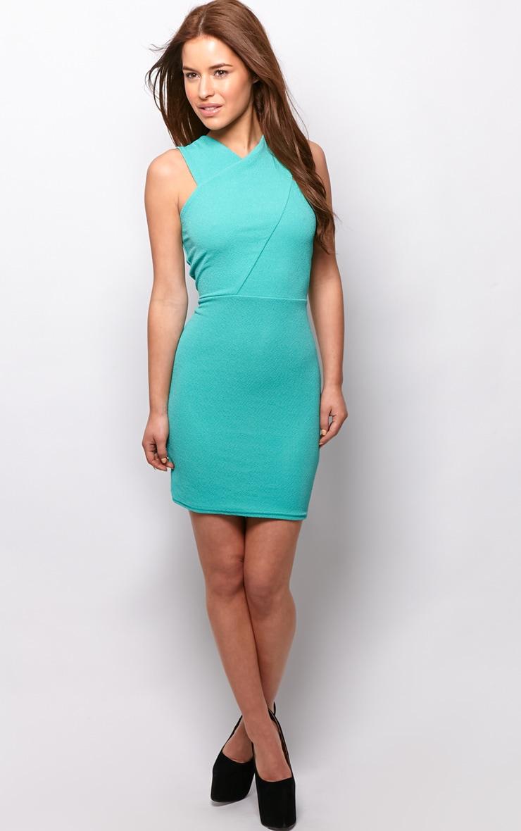 Allina Green V Detail Dress 3