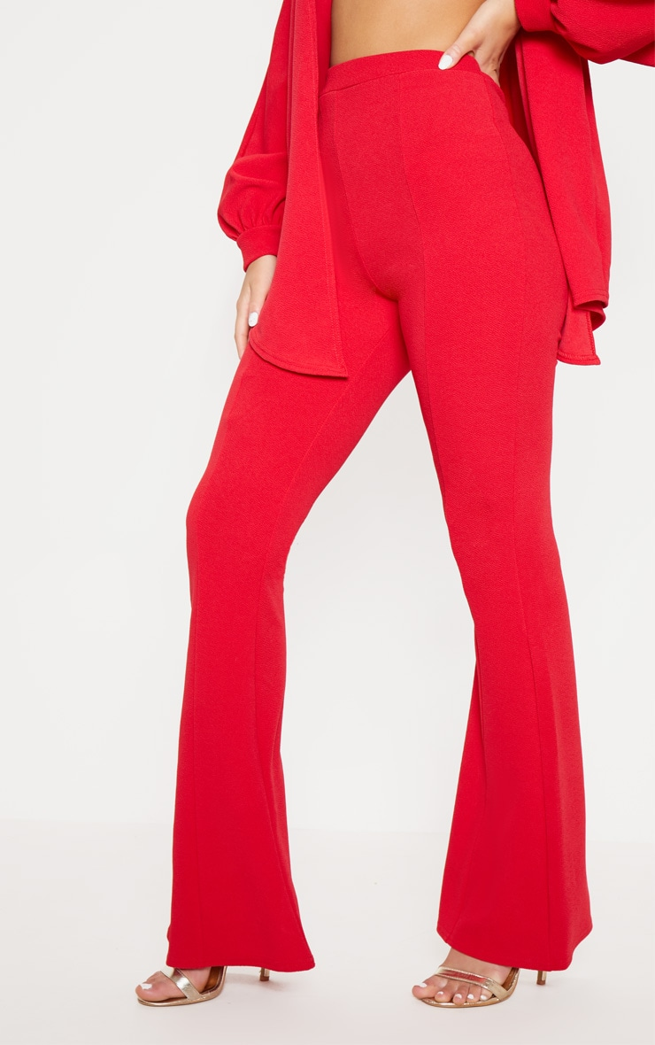 Red Flared Trouser  2