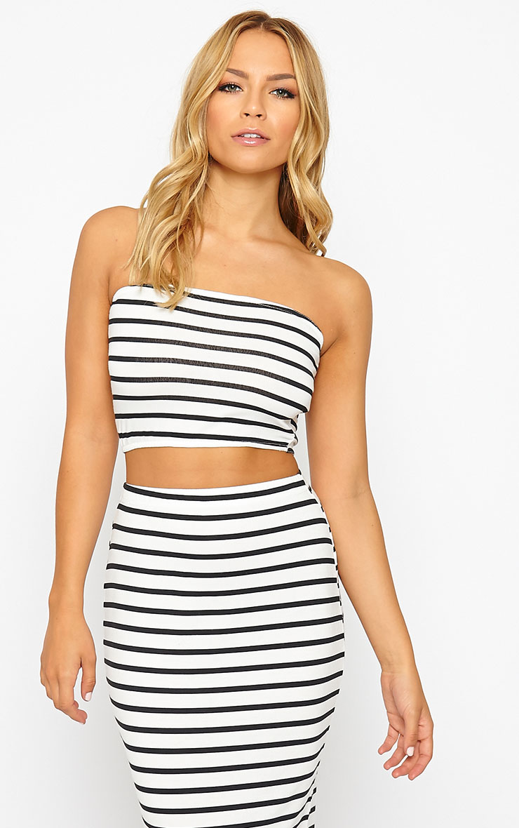 Kyllie Striped Bandeau Top 1