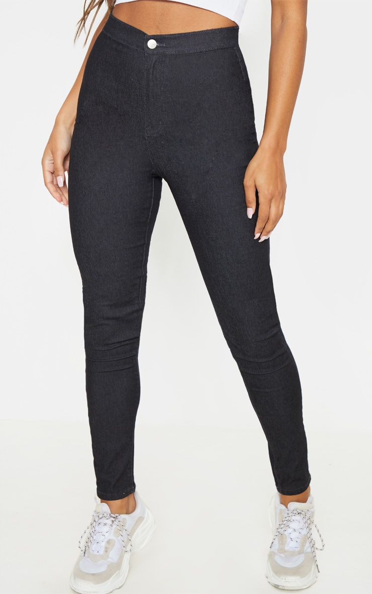 Washed Black Denim Jegging 2