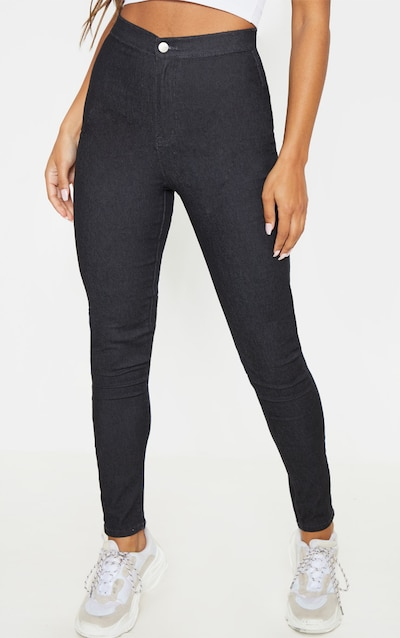 Washed Black Denim Jegging