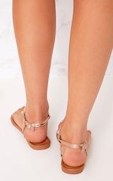 0933e741815b2 Adela Rose Gold Jewelled Sandals image 4