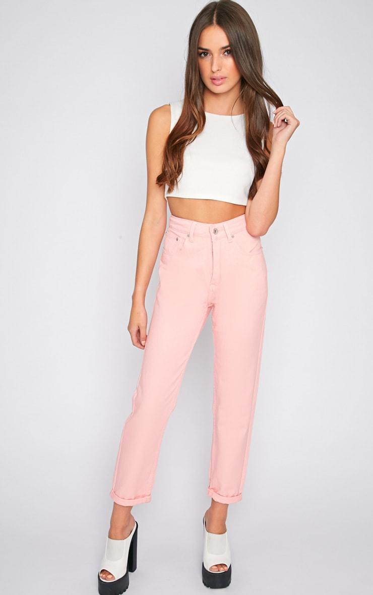 Charlie Pink Mom Jeans 1