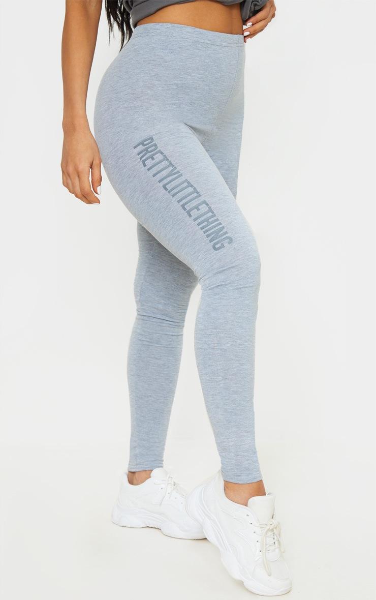 PRETTYLITTLETHING Grey Logo Leggings 2