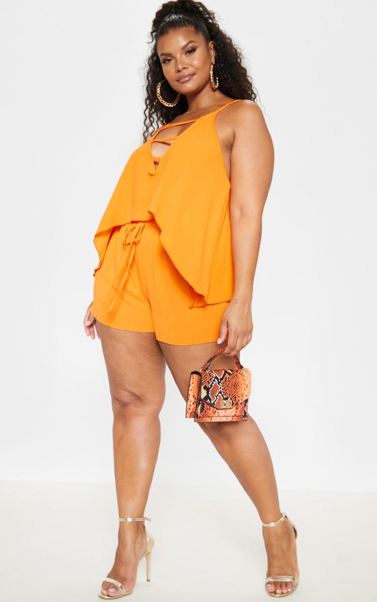 Plus Bright Orange Cami Top  4