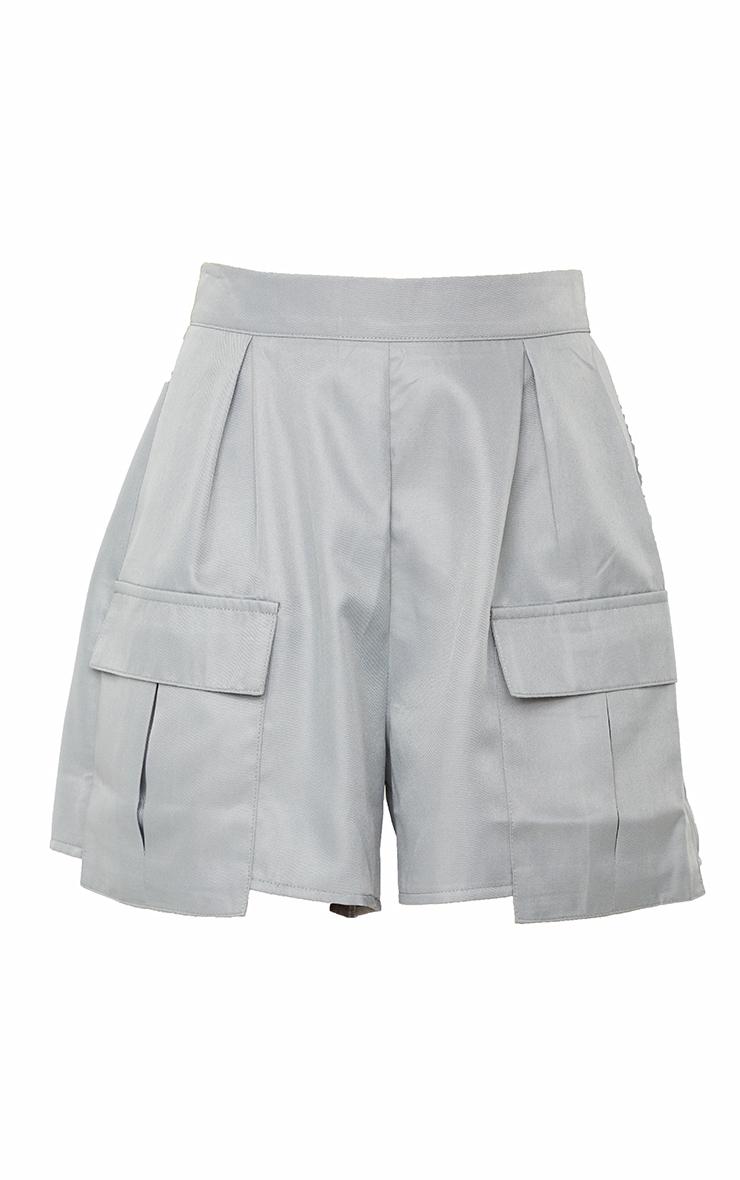 Charcoal Pocket Detail Cargo Shorts 6