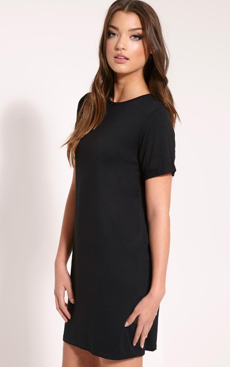 Basic Black Boyfriend Jersey T-Shirt Dress 4