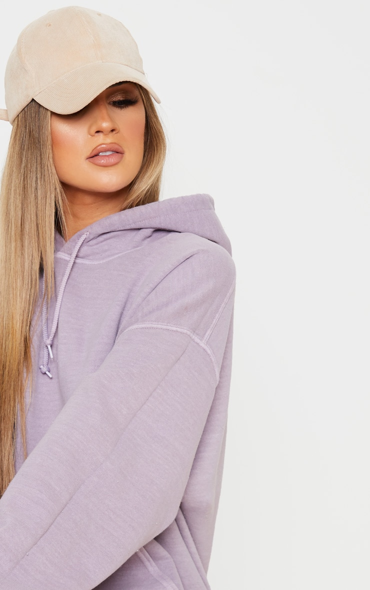 Lilac Washed Oversized Hoodie 5