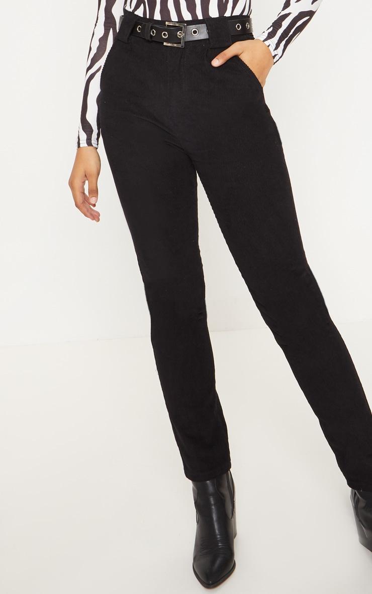Tall Black Corduroy Pants 4