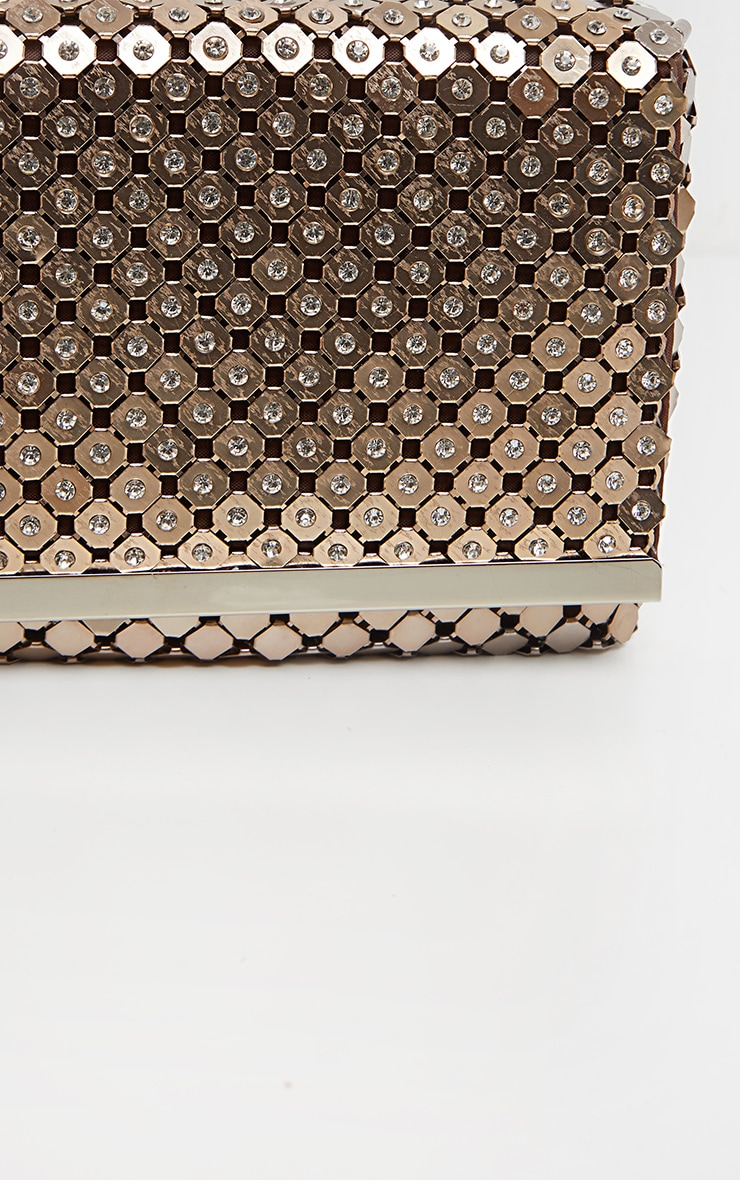Bronze Chainmail Style Clutch Bag 3