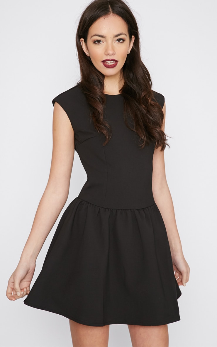 Ria Black Drop Waist Dress 1