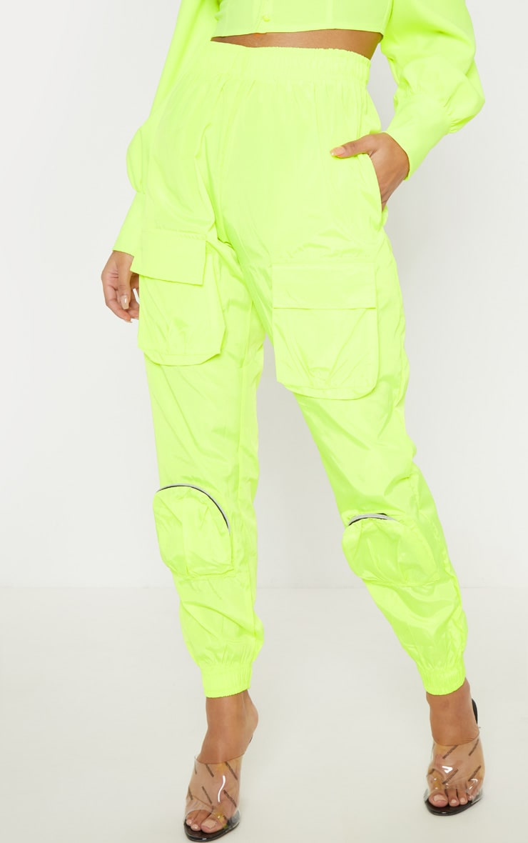 Neon Lime Shell 3D Pocket Detail Jogger 3