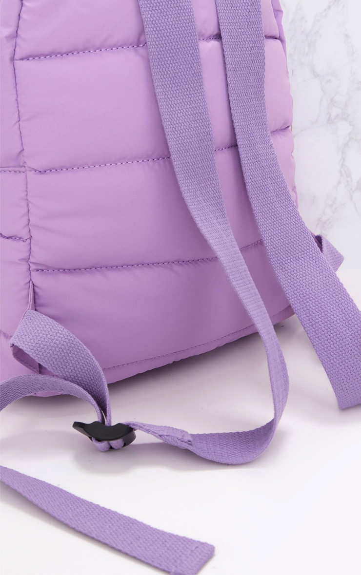 PrettyLittleThing Lilac Backpack 5
