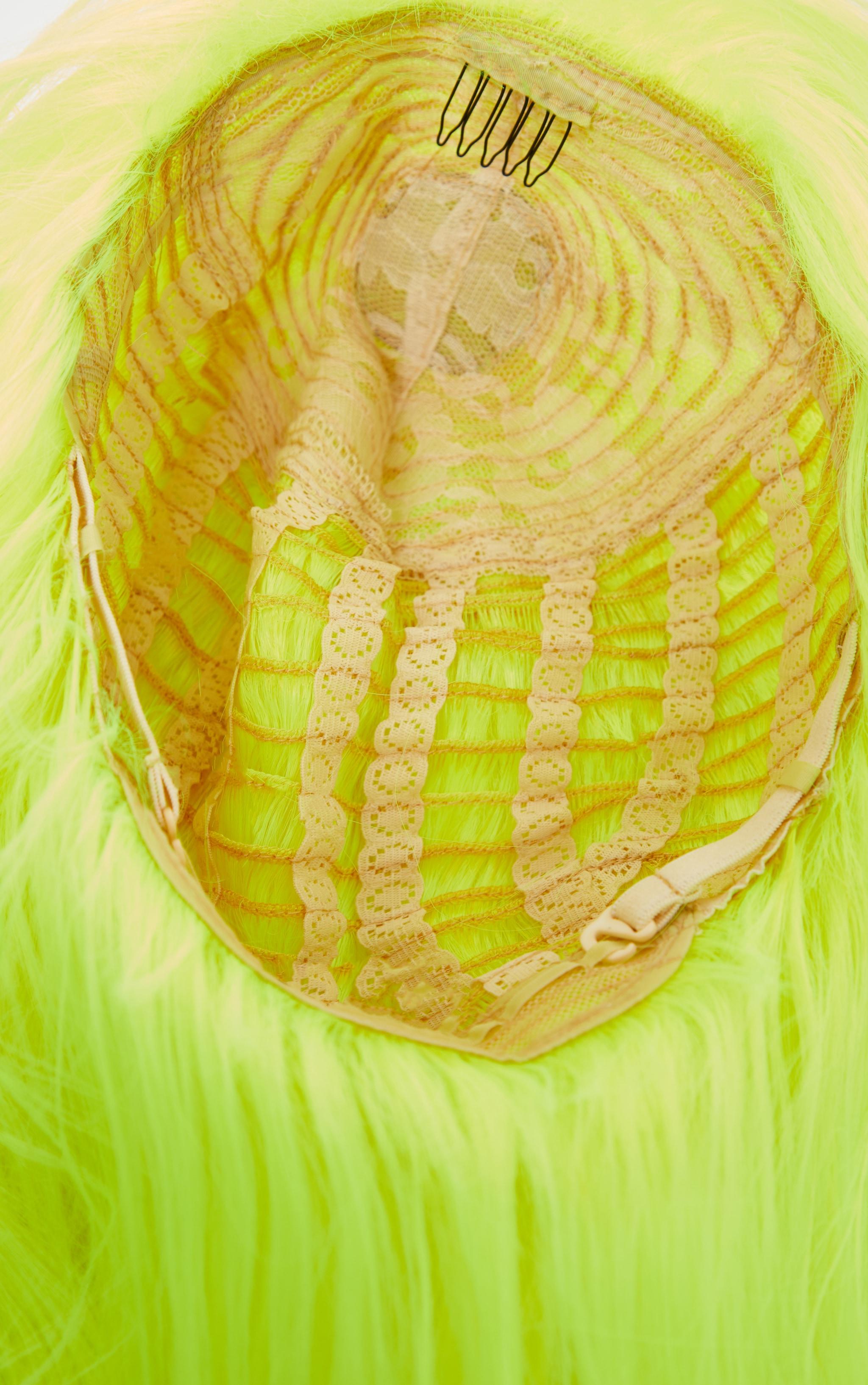 Neon Yellow Premium Long Wig 2