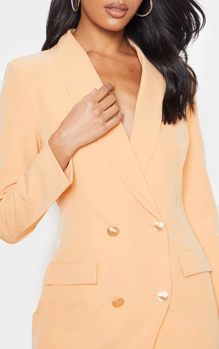 Nude Gold Button Blazer Dress 5
