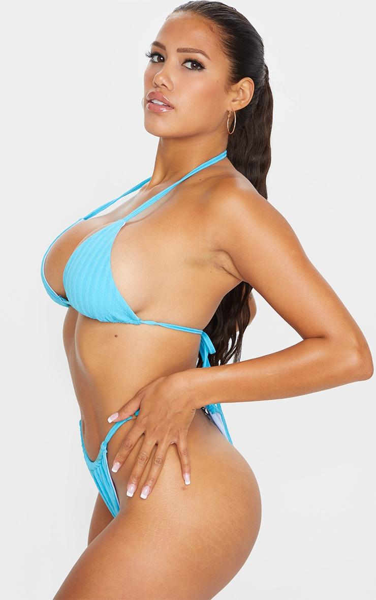 Shape Aqua Crinkle High Leg Adjustable Bikini Bottom 2