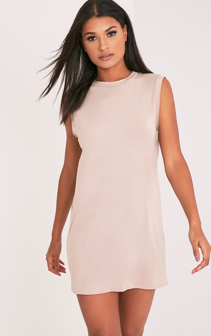 Lola Nude Sleeveless T-Shirt Dress 2