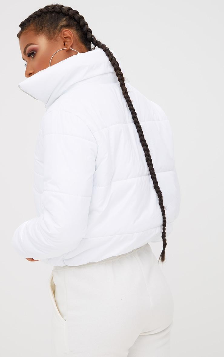 White Puffer Jacket 2