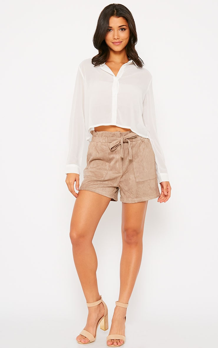 Libby White Cropped Shirt 3