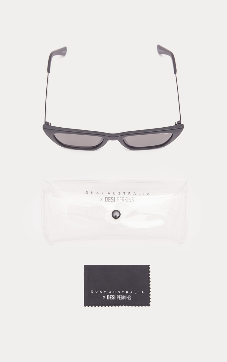 QUAY AUSTRALIA Black Dont At Me Square Sunglasses 3