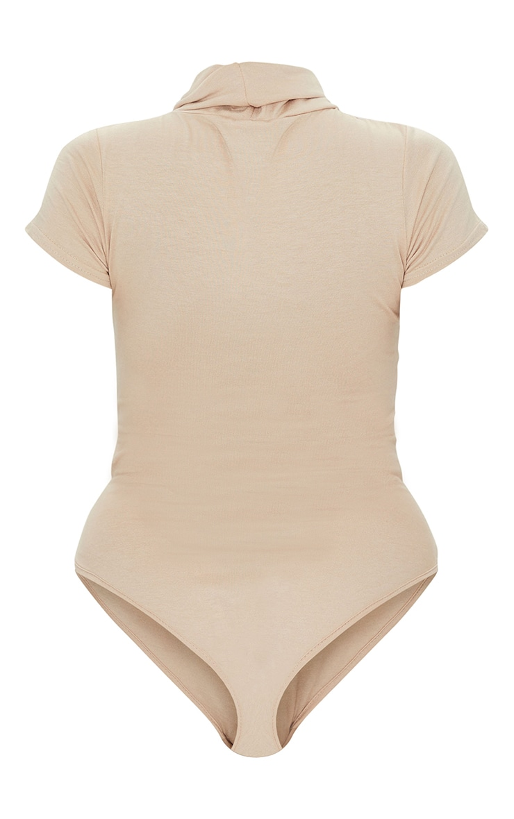 Petite Stone Short Sleeve Basic Roll Neck Bodysuit 6