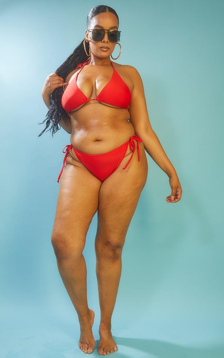 Recycled Plus Red Mix & Match Triangle Bikini Top 3