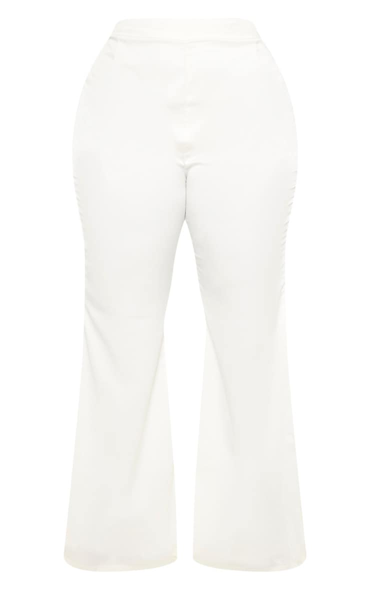 Plus Cream Tailored Extreme Flared Pants 3