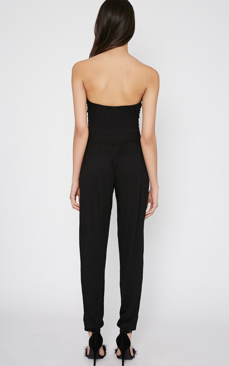 Shelby Black Ruched Jumpsuit 2